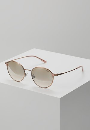 Sonnenbrille - gold flash pink mirror