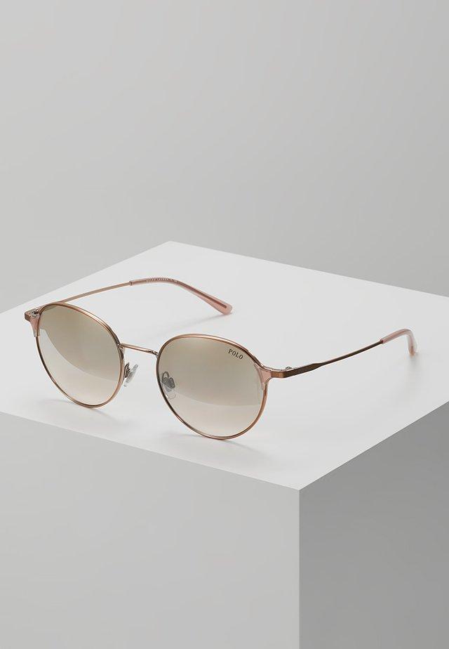 Okulary przeciwsłoneczne - gold flash pink mirror