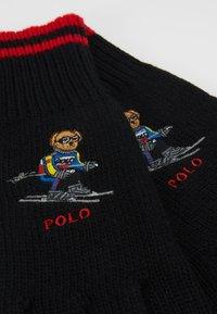 Polo Ralph Lauren - BLEND EXTREME BEAR - Guanti - black/red - 4