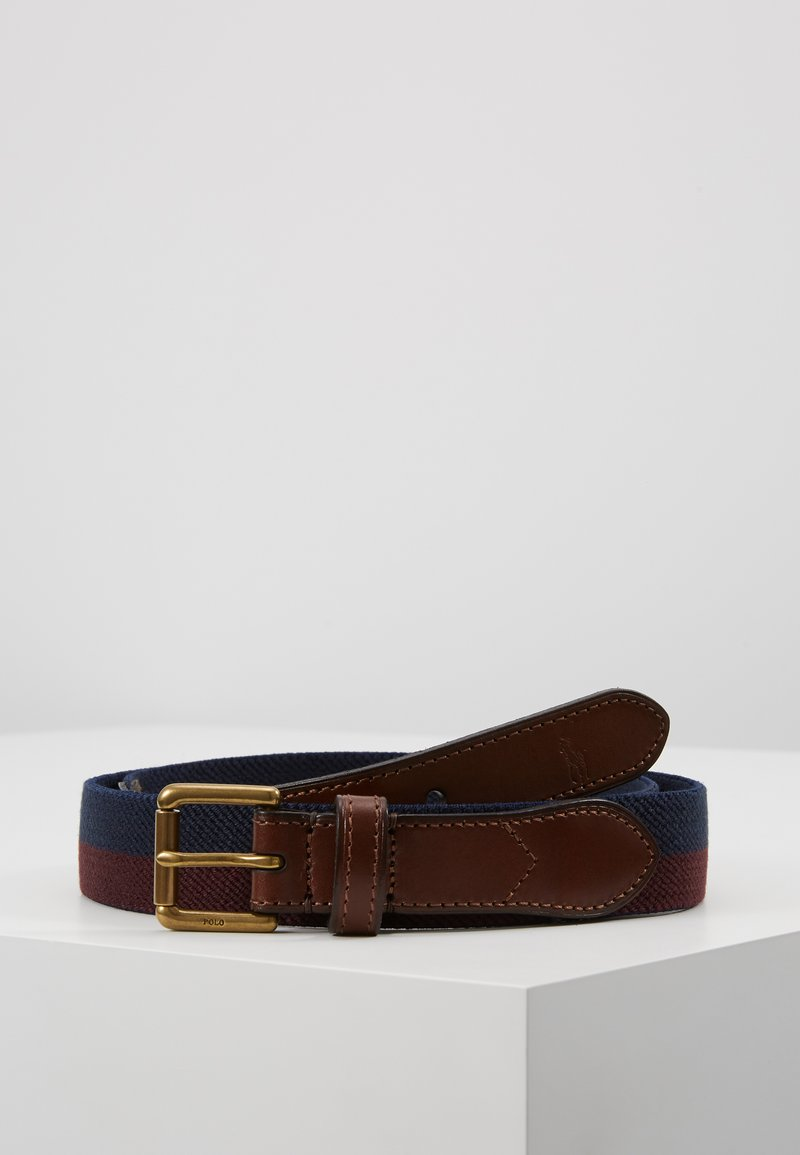 Polo Ralph Lauren - STRIPE CASUAL MEDIUM - Belt - navy/burgundy