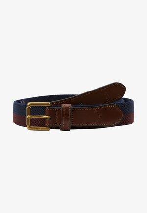 STRIPE CASUAL MEDIUM - Belt - navy/burgundy