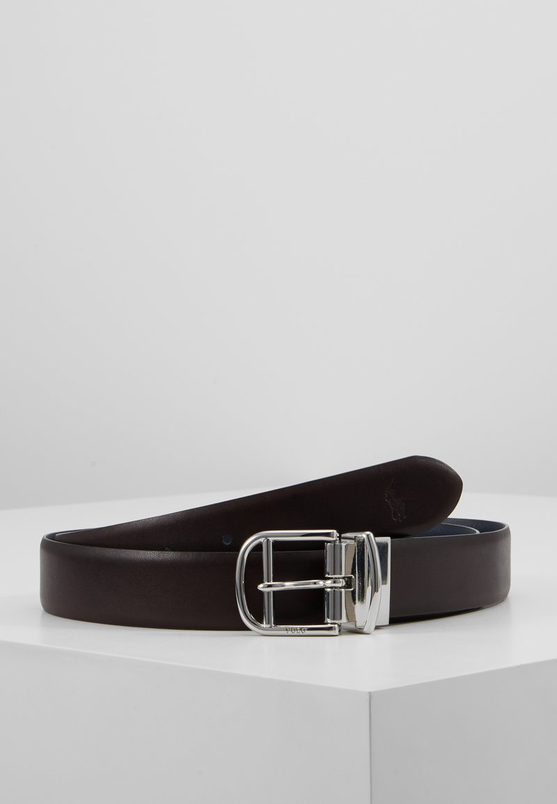 Polo Ralph Lauren - REVERS - Ceinture - dark brown/navy