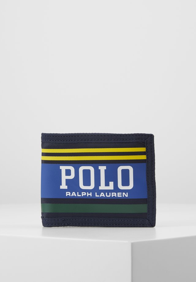 WALLET - Portfel - navy/yellow/green