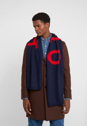 BIG SCARF - Szal - navy/charter red