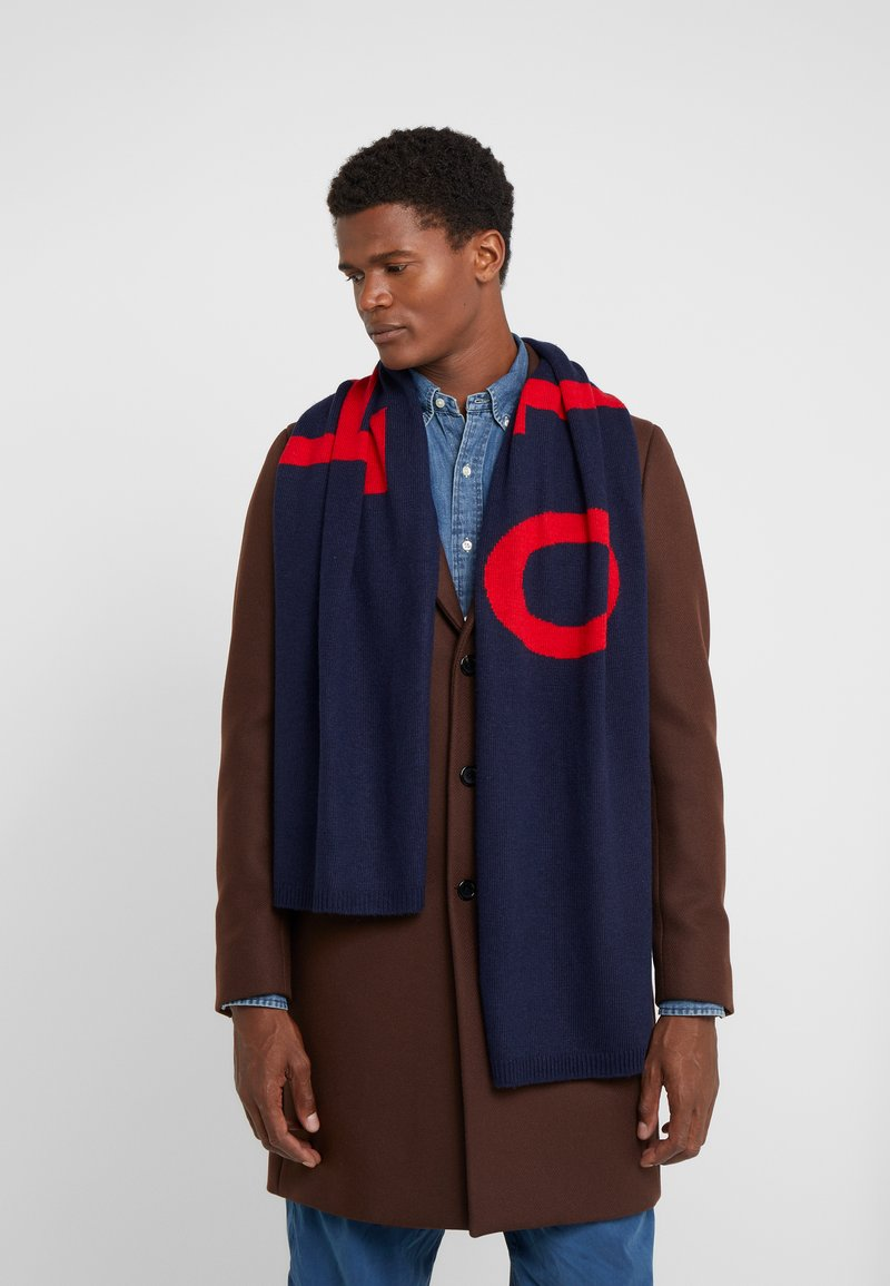 Polo Ralph Lauren - BIG SCARF - Huivi - navy/charter red