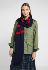 Polo Ralph Lauren - BIG SCARF - Sjal - navy/charter red - 1