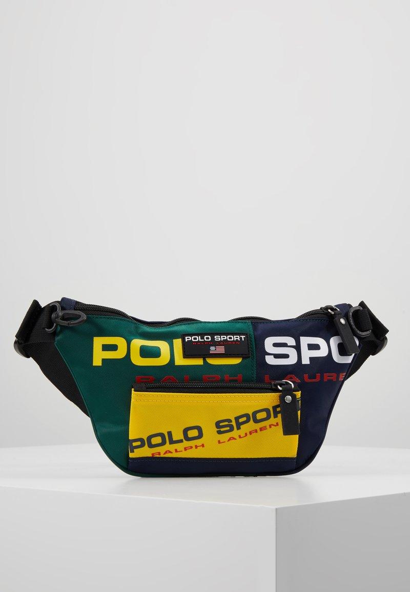 Polo Ralph Lauren - SPORT  - Bum bag - navy/green/yellow