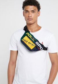 Polo Ralph Lauren - SPORT  - Bum bag - navy/green/yellow - 1
