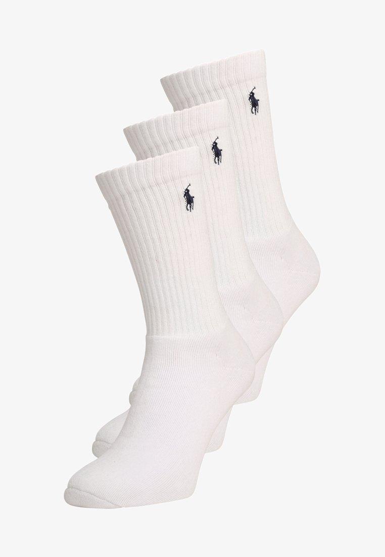 Polo Ralph Lauren - CREW 3 PACK - Sokker - white