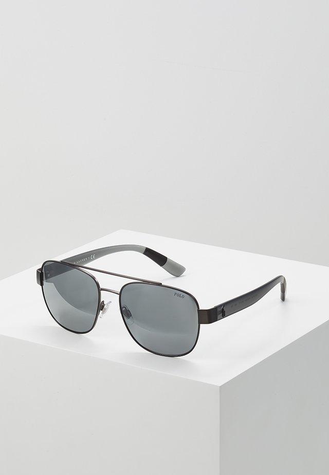Solglasögon - semishiny dark gunmetal/silvercoloured mirror