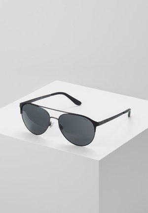 Sunglasses - matte dark gunmet/black