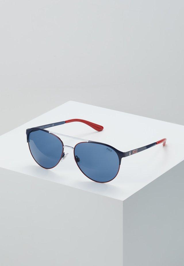 Sunglasses - navy blue/red/white