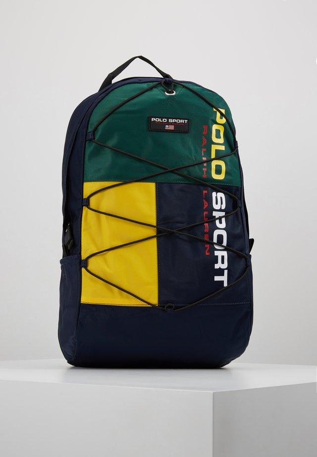 SPORT - Mochila - navy/green/yellow