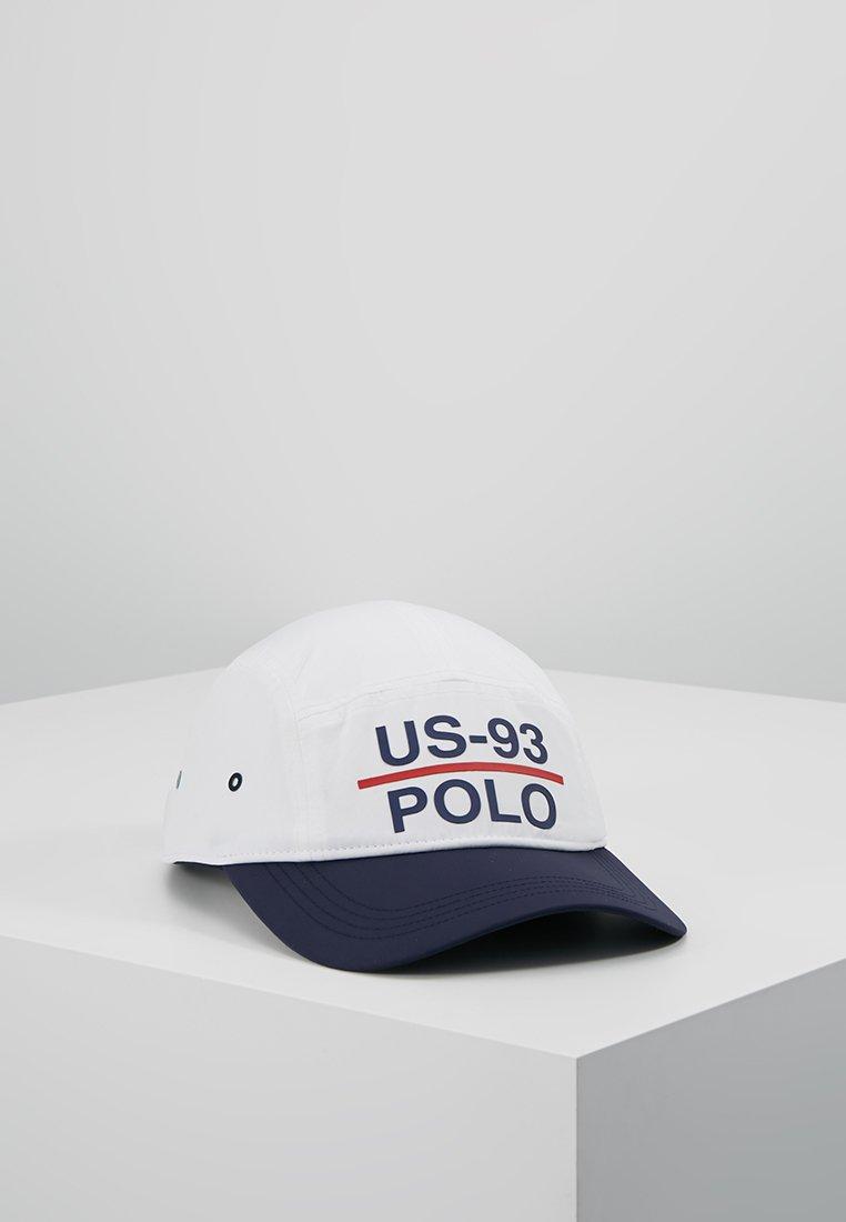 Polo Ralph Lauren - PANEL CAMP CAP - Caps - white/navy