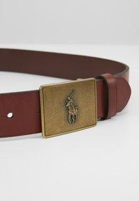 Polo Ralph Lauren - PONY BUCKLE-CASUAL - Pásek - brown - 2