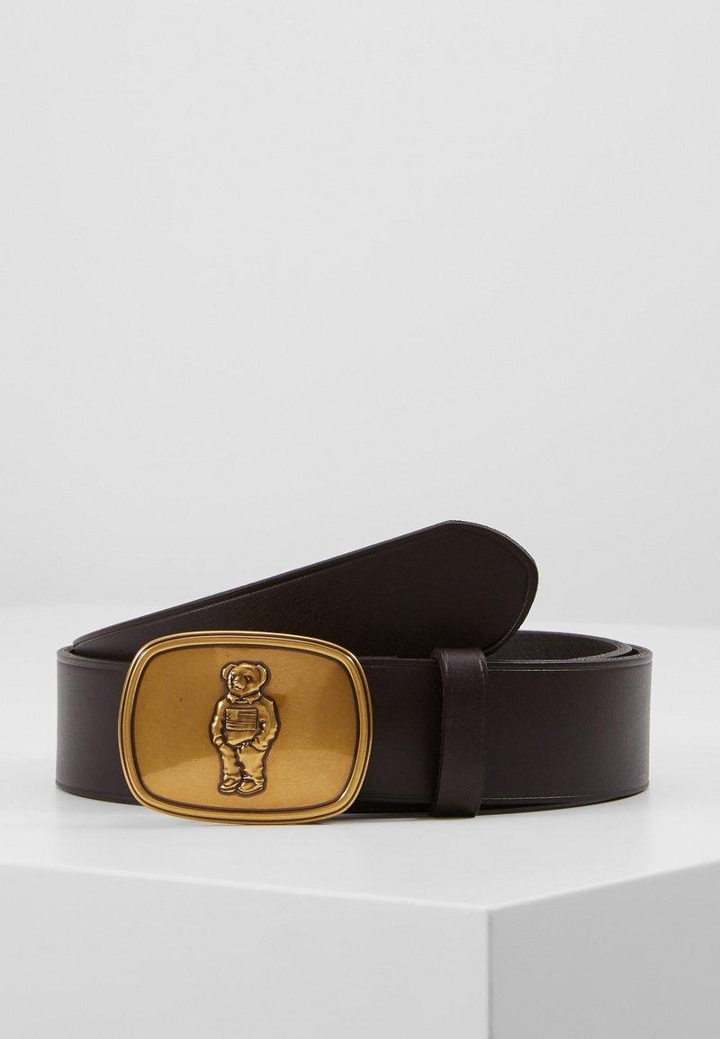 Polo Ralph Lauren - BEAR BELT-CASUAL - Cinturón - brown leather