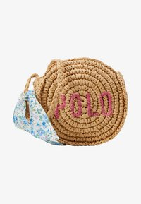 Polo Ralph Lauren - ROUND BAG CROSSBODY - Across body bag - raffia - 1