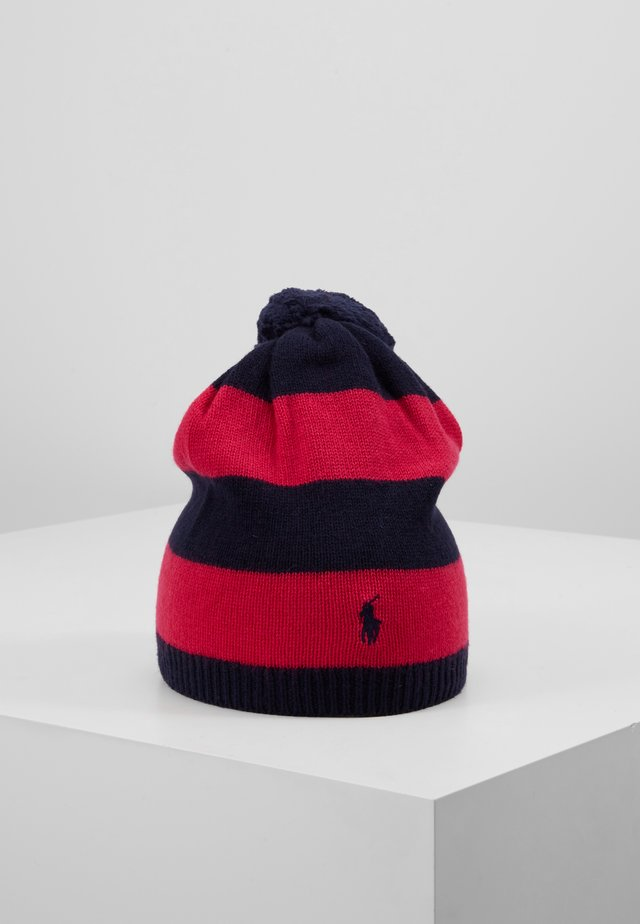 STRIPE HAT APPAREL - Čepice - navy/sport pink