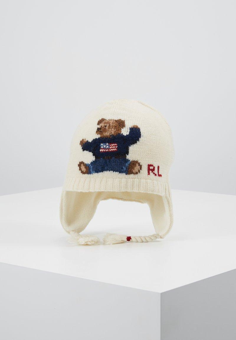 Polo Ralph Lauren - BEAR EARFLAP HAT - Huer - cream