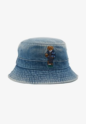 BUCKET HAT BEAR - Hut - light blue