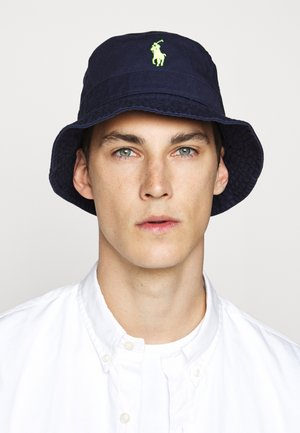 CHINO BUCKET HAT - Hatt - navy/neon