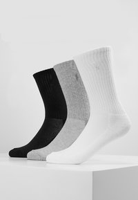 Polo Ralph Lauren - POLY BLEND SOLE 3 PACK - Ponožky - grey/white/black - 0