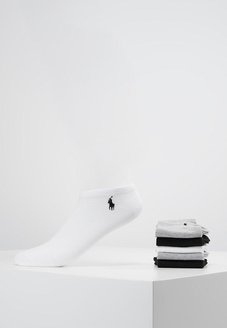Polo Ralph Lauren - POLY BLEND ULTRA LOW CUT 6 PACK - Calze - white/black/grey