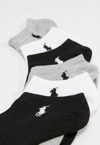 Polo Ralph Lauren - POLY BLEND ULTRA LOW CUT 6 PACK - Calze - white/black/grey - 2