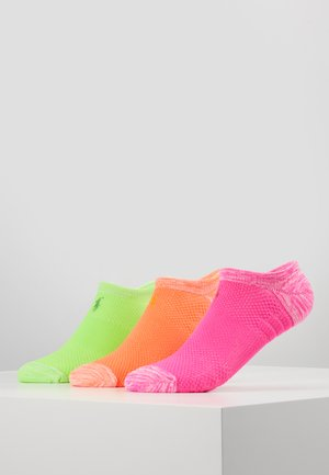 3 PACK - Sokker - coral/neon green/pink