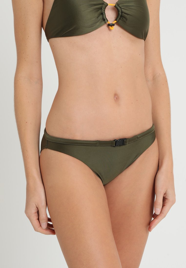 Polo Ralph Lauren - BELTED HIPSTER - Bikini bottoms - olive