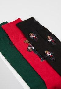 Polo Ralph Lauren - COCOA BEAR 3 PACK - Sokker - red/green/black - 2