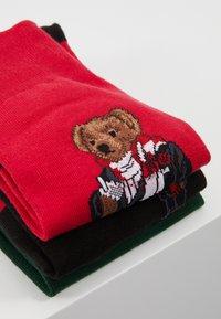 Polo Ralph Lauren - COCOA BEAR 3 PACK - Sokker - red/green/black - 3
