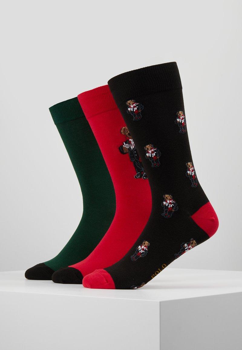 Polo Ralph Lauren - COCOA BEAR 3 PACK - Sokker - red/green/black