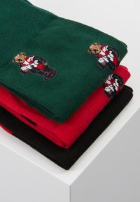Polo Ralph Lauren - COCOA 3 PACK - Calcetines - red/black/green - 3