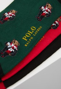 Polo Ralph Lauren - COCOA 3 PACK - Calcetines - red/black/green - 2