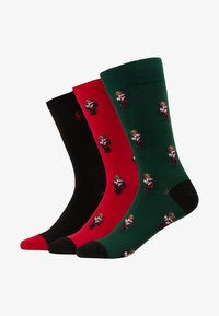 Polo Ralph Lauren - COCOA 3 PACK - Calcetines - red/black/green - 1