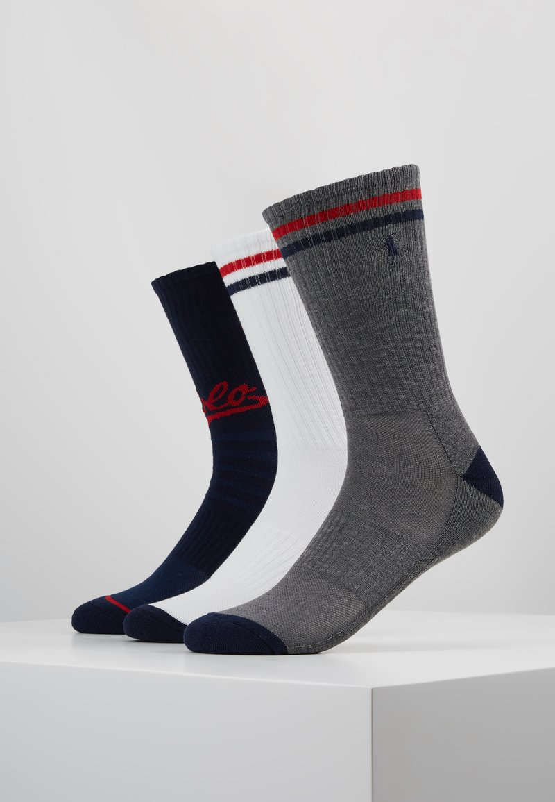 Polo Ralph Lauren - POLO ATHLETIC 6 PACK - Calcetines - grey/white/red/navy