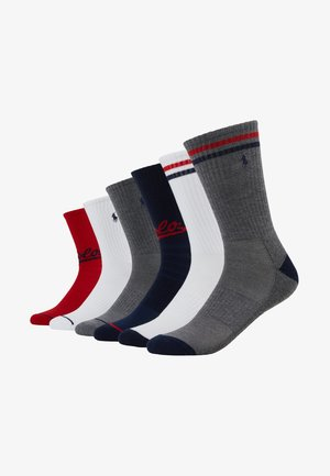 POLO ATHLETIC 6 PACK - Chaussettes - grey/white/red/navy
