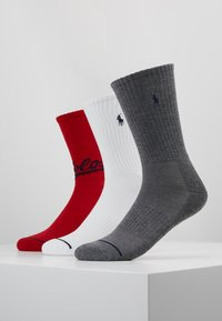 Polo Ralph Lauren - POLO ATHLETIC 6 PACK - Calze - grey/white/red/navy - 1