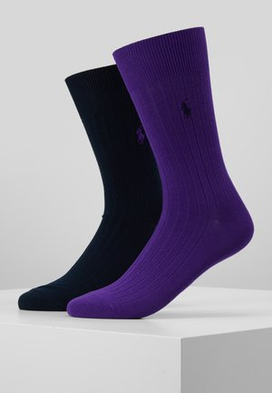 CREW 2 PACK - Calze - navy/purple