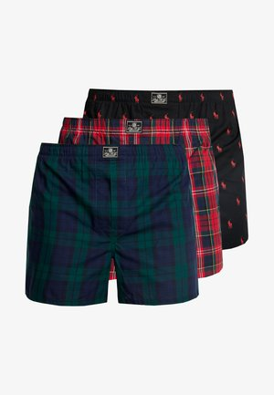 3 PACK - Boxer shorts - red/dark blue/black