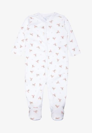 BEAR COVRALL ONE PIECE BABY - Pyjama - white/pink/multicolour