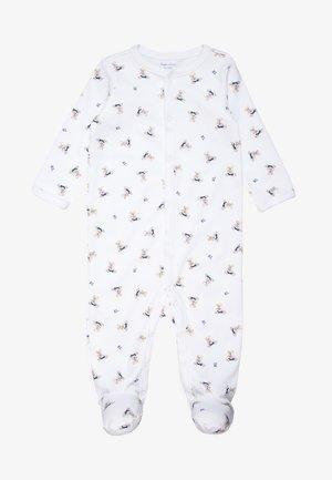 BEAR COVERALL ONE PIECE BABY - Pyjama - white/blue/multicolor