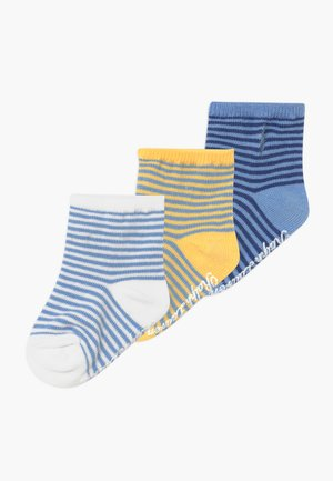 CREW 3 PACK - Chaussettes - green /yellow/blue
