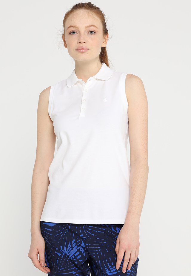 STRETCH VISDRY - Polo - pure white