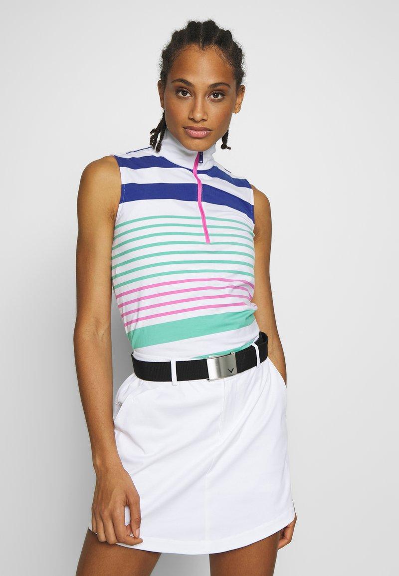Polo Ralph Lauren Golf - ZIP SLEEVELESS - Top - white/red