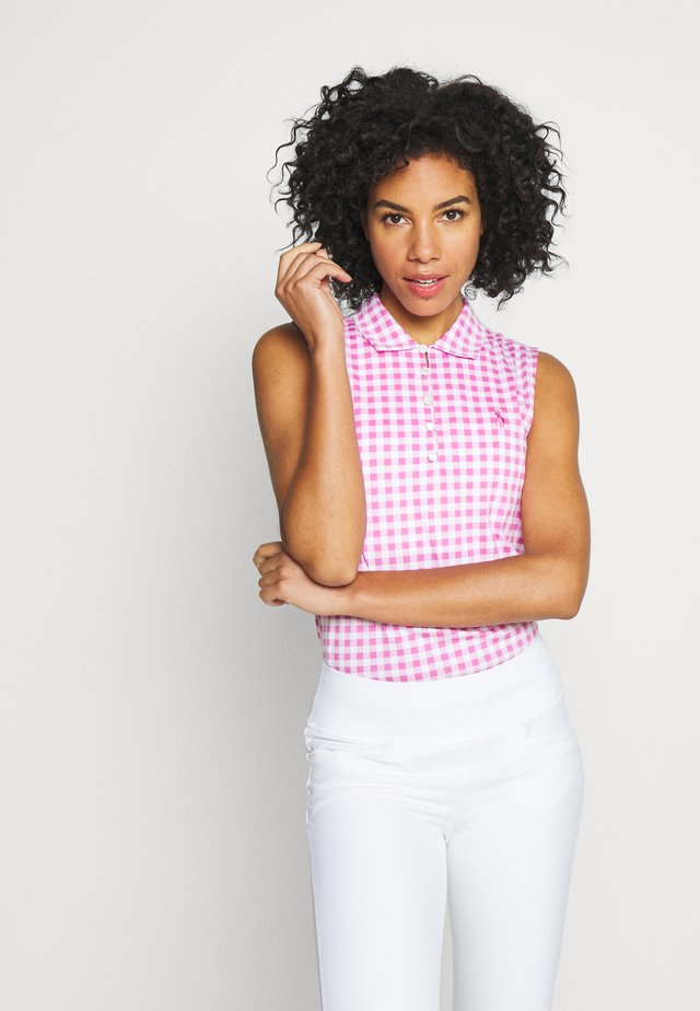 SLEEVELESS - Piké - rose gingham