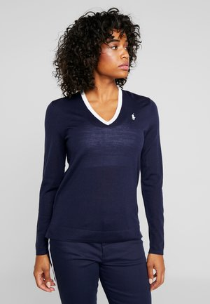 V-NECK LONG SLEEVE - Stickad tröja - french navy