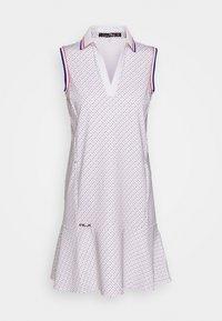 Polo Ralph Lauren Golf - PRINT SLEEVELESS CASUAL DRESS - Sportovní šaty - white - 0