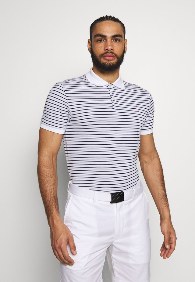 SHORT SLEEVE - Funktionstrøjer - white/french navy/powder blue